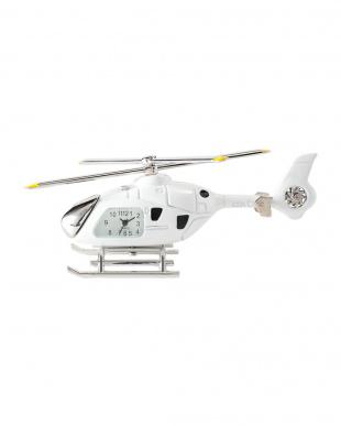 ホワイト ヘリコプター ミニチュアクロックを見る