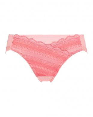 ピンク TRS026 Hikini  きちんと見えるノンワイヤーブラ 026 レギュラーショーツ  2点SETを見る