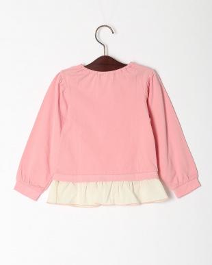 濃ピンク 重ね着風Tシャツを見る