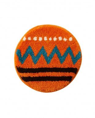 オレンジ/アイボリー キリム柄チェアパッド 2Pを見る