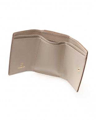 グレージュ [トプカピ] TOPKAPI 角シボ型押し・三つ折りミニ財布 COLORATO コロラートを見る