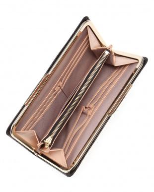 ブラック [トプカピ] TOPKAPI イタリアンレザー・リザード型押し・がま口長財布 LUCIA ルチアを見る