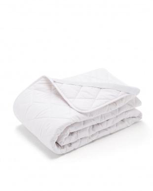 ホワイト ウール90% ウォッシャブル ベッドパット ダブルを見る