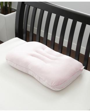 ピンク 専用カバー付きクリームパフピロー マシュマロタッチを見る