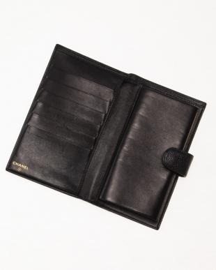 BLK キャビアスキンガマ口財布を見る