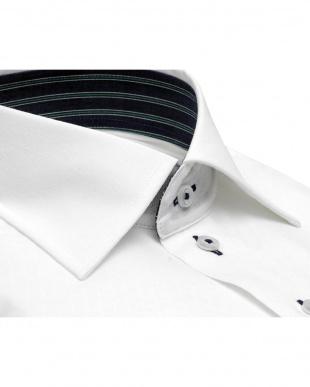 ホワイト系 形態安定 ノーアイロン 長袖ワイシャツ フィットインナー ワイドを見る