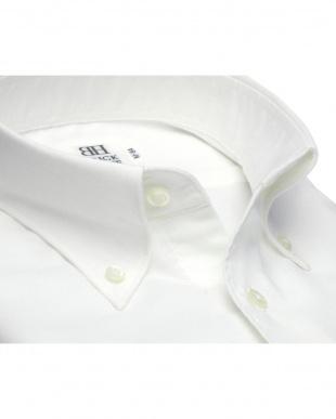 ホワイト系 形態安定 ノーアイロン 長袖ワイシャツ Wガーゼ ボタンダウンを見る