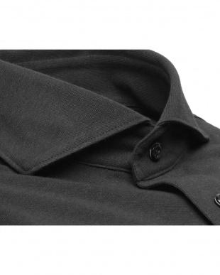 ブラック系 形態安定 ノーアイロン 長袖ビズポロ ニットシャツ ホリゾンタル ワイドを見る
