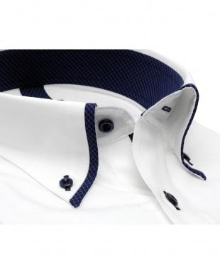 ホワイト系 形態安定 ノーアイロン 長袖ワイシャツ メッシュインナー マイター ボタンダウンを見る