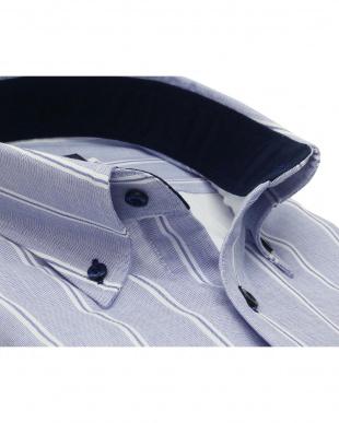 ブルー系 形態安定 ノーアイロン 長袖ワイシャツ Wガーゼ ボタンダウンを見る