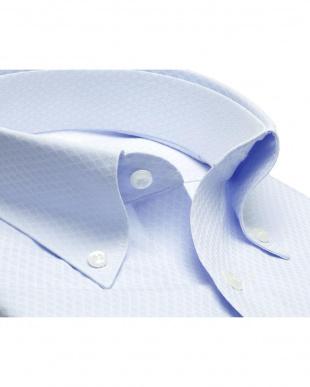 ブルー系 形態安定 ノーアイロン 長袖ワイシャツ ボタンダウンを見る