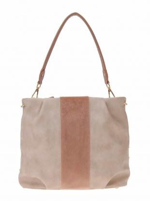 ベージュ 【2WAY】エコファー切り替えデザインバッグ MK MICHEL KLEIN BAGを見る