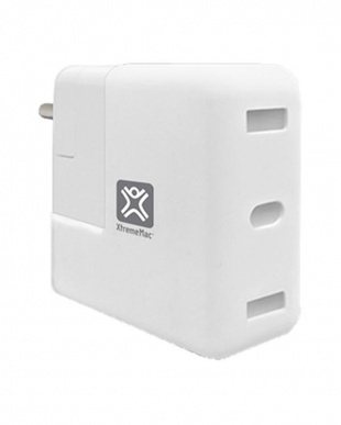 White MacBook Charging Hub Adapterを見る