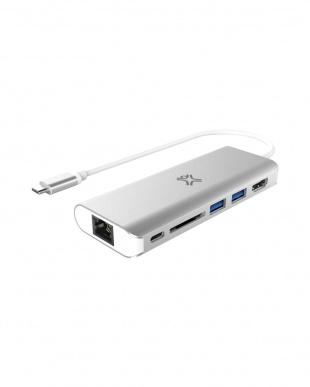 Silver 充電ハブアダプター Type-C Hub Plusを見る