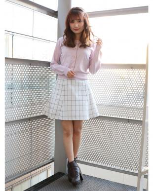 ピンク バックルフレアミニスカート dazzlinを見る