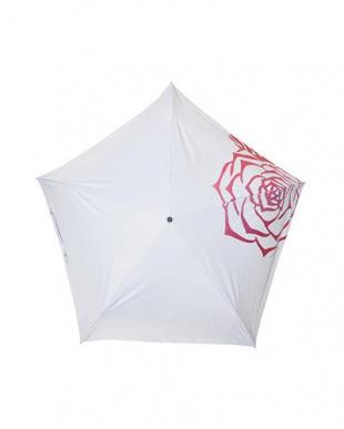 ホワイトローズ 晴雨兼用折りたたみ傘99.9%を見る
