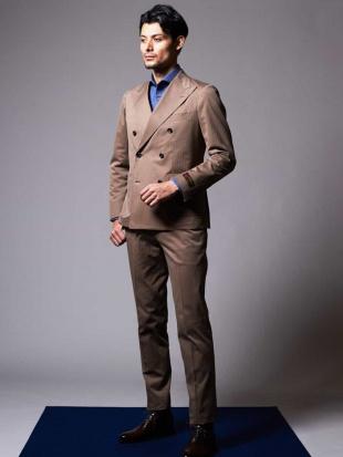 ベージュ スーツ(LEOMASTERヘリンボーン) MICHEL KLEIN HOMMEを見る