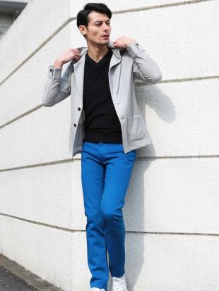 ブルー パンツ(ファクトリエコラボパンツ) MICHEL KLEIN HOMMEを見る