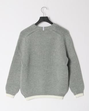 グレー ディスカードニットセーターを見る
