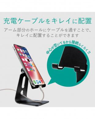 ブラック スマートフォン用スタンドを見る