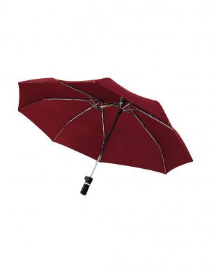 レッド 軸をずらした傘 Sharely(シェアリー) 折り畳み傘 撥水加工を見る