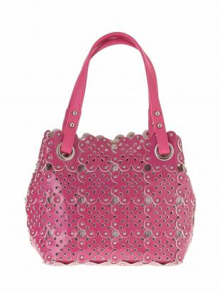 ピンク パンチングフラワーバッグ MK MICHEL KLEIN BAGを見る