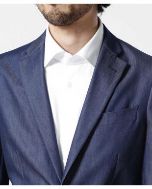 ブルー SL シャンブレーツイルストレッチジャケット ナノ・ユニバースメンズ(オリジナル)を見る