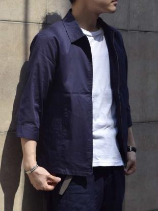 ネイビー ジップアップシャツブルゾン<TC / ストレッチ> MK MICHEL KLEIN hommeを見る