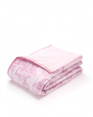ピンク ガーゼ&ニットワッフル 合繊肌掛けふとんを見る
