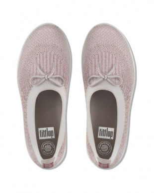 Stone/Rose Gold Metallic UBERKNIT SLIP ON BALLERINA WITH BOWを見る