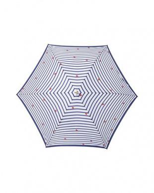 ボーダーブルー moz×mabu UVカットスリムジャンプ傘を見る