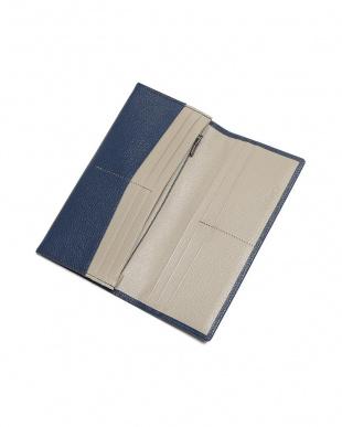 ネイビー シュリー ゴートレザー 二つ折り 長財布を見る