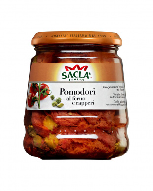 サクラ プラムトマトのアル・フォルノ ケッパー・オイル漬 285g 瓶 2個セットを見る