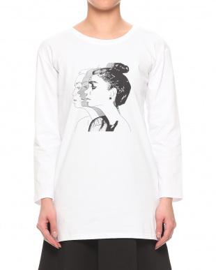 ホワイト WOMENプリントロングTシャツを見る
