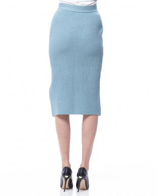 グリーン 畦ニットセットアップスカートを見る