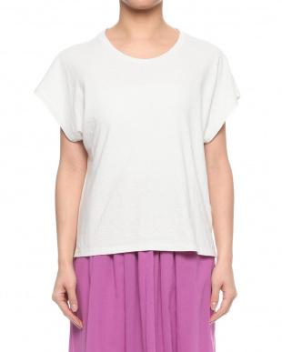 ライトグレー ガーメントダイプリントTシャツを見る