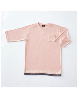 ピンクモク 5分袖Tシャツ×2セットを見る