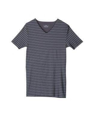 チャコールグレー VネックTシャツ×2セットを見る