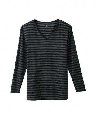 グレーモク Vネック9分袖シャツ(V首)(メンズ)×2セットを見る