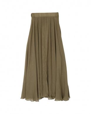 ブラウン スラブボリュームマキシスカートを見る