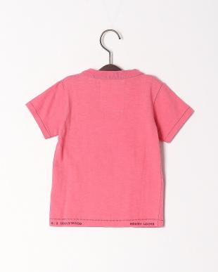 ピンク シルクネップテンジク クルーネック TEEを見る