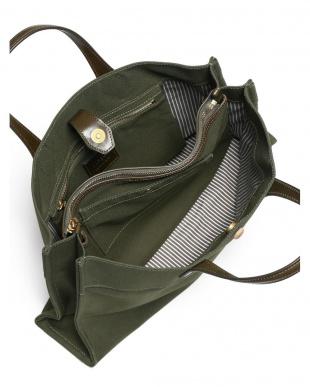 グリーン 日本製 帆布ブリーフバッグを見る
