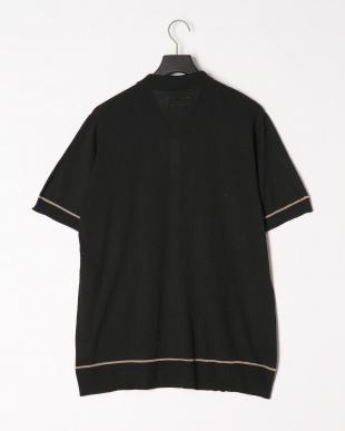 ブラック ニットシャツカーディガンを見る