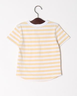ベージュ ボーダーリンガーTシャツを見る