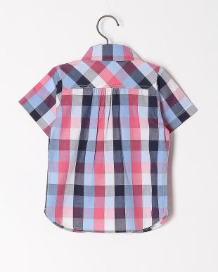ネイビー ブロックチェックシャツを見る