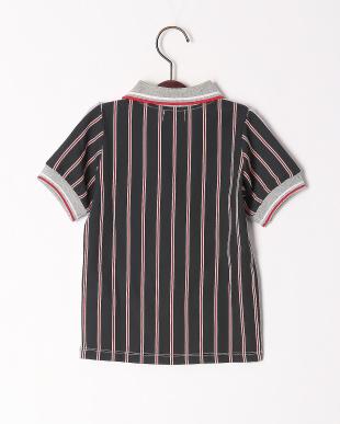 グレー バックパターンポロシャツを見る