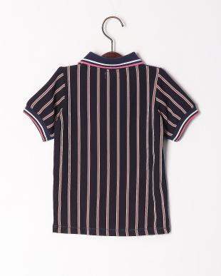 ネイビー バックパターンポロシャツを見る