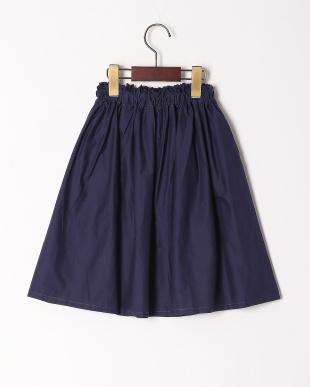 ネイビー ギャザースカートを見る
