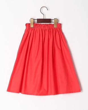 レッド ギャザースカートを見る