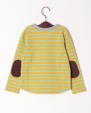 イエロー 2配色リンガーボーダーTシャツを見る